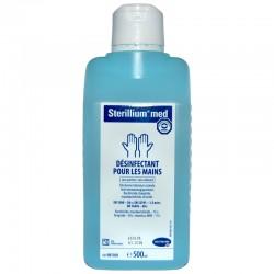 Flacon de 500 ml de solution hydroalcoolique STERILLIUM®MED